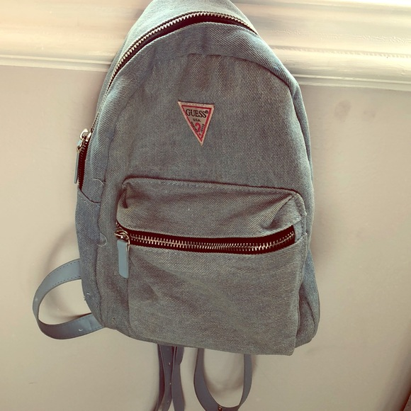 Guess Handbags - Guess denim backpack purse 79da05de19b68